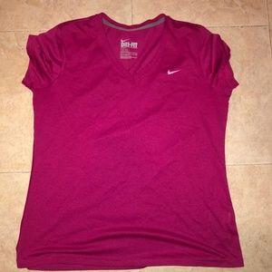 Nike Women's Dri-Fit V Neck Tee
